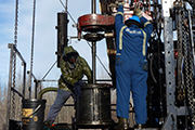 oil and gas well service crew